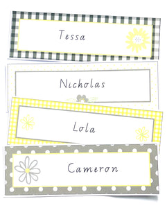 Yellow Daisy Classroom Decor Pack Printable Download Name Labels