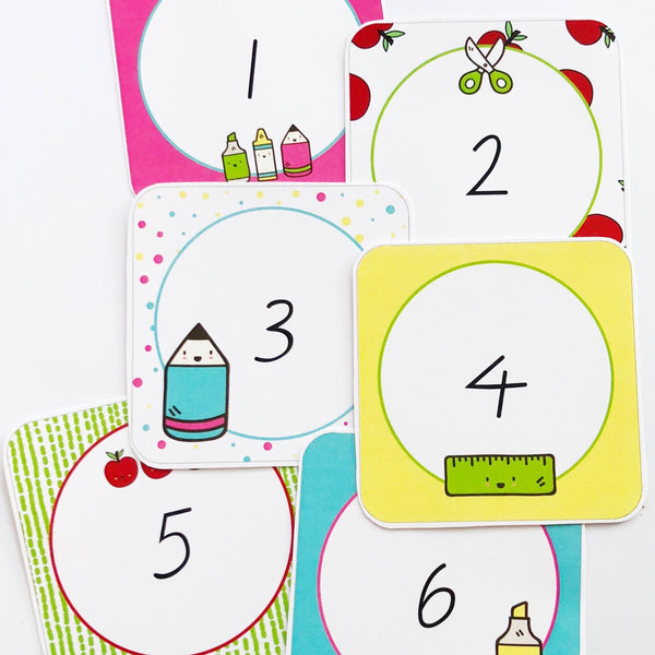 Bright Classroom Decor Printable Download Numbers