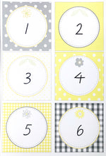Yellow Daisy Theme Classroom Decor Printable Numbers