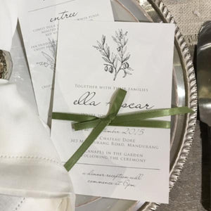 Green Sophisticated Rustic Wedding and Engagement invitation. Affordable Printable. Emma Smith