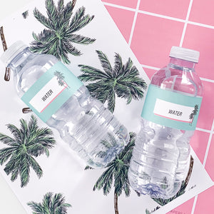 Palm Springs  | All Inclusive Party Decoration Printable Water Bottle Label Download | Emma Smith Event Stationery