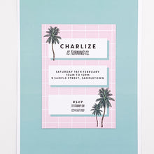 Palm Springs  | All Inclusive Party Decoration Printable Invitation Download | Emma Smith Event Stationery