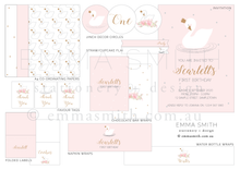 Swan Princess Party Decoration Download Printable | Emma Smith Event Stationery
