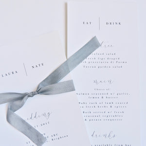 Emma Smith Event Stationery Pure Invitation with Menu
