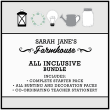 Farmhouse Theme Classroom Decor Printable Download Bundle