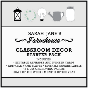 Farmhouse Theme Printable Download Classroom Decor Bundle