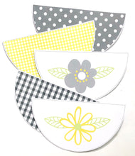Yellow Daisy Classroom Decor Pack Printable Download Scallop Bunting flag