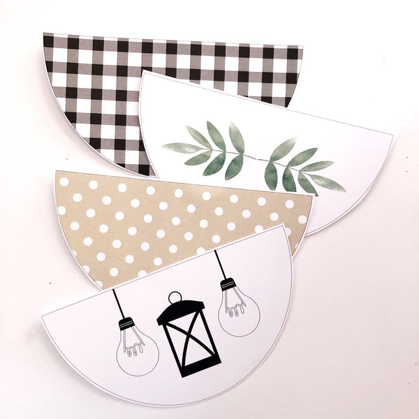 Farmhouse Theme Decorations Printable Download Bunting