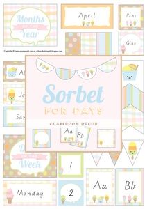 Sorbet For Days - All Inclusive Classroom Decor Bundle