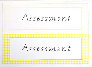Yellow Daisy Teacher Stationery Printable Download Spine Labels