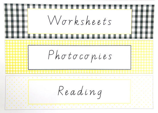 Yellow Daisy Teacher Stationery Printable Download Folder Labels