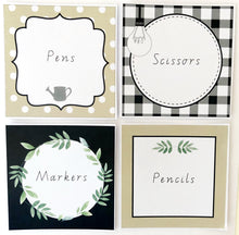 Farmhouse Theme Classroom Decor Printable Download Labels