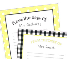 Yellow Daisy Teacher Stationery Note paper Printable Download
