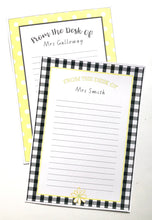 Yellow Daisy Teacher Stationery Printable Download Note Paper
