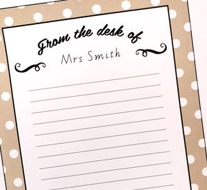 Farmhouse Theme Teacher Stationery Printable Download Note paper