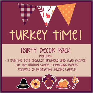 Thanksgiving Digital Download Easy Decor Bundle Cute