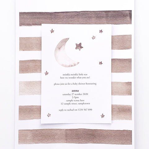 Twinkle Twinkle Little Star invitation | Emma Smith Event Stationery