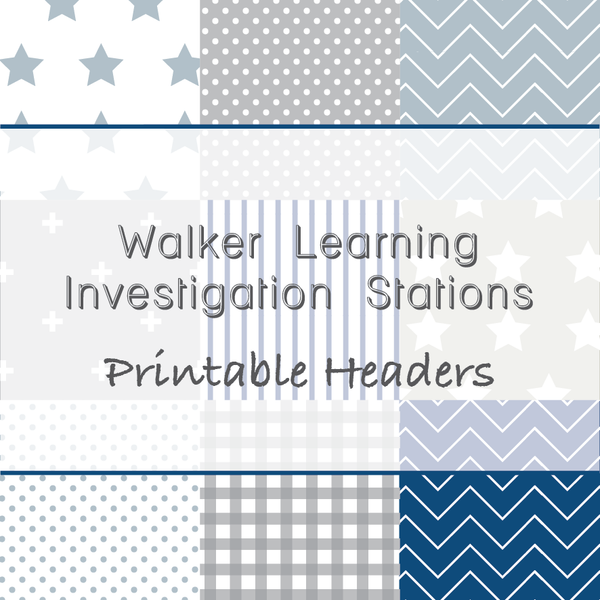 Walker Learning Investigation Areas Printable Download