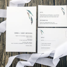 Australian habitat Invitation in minimal design | Emma Smith Event Stationery