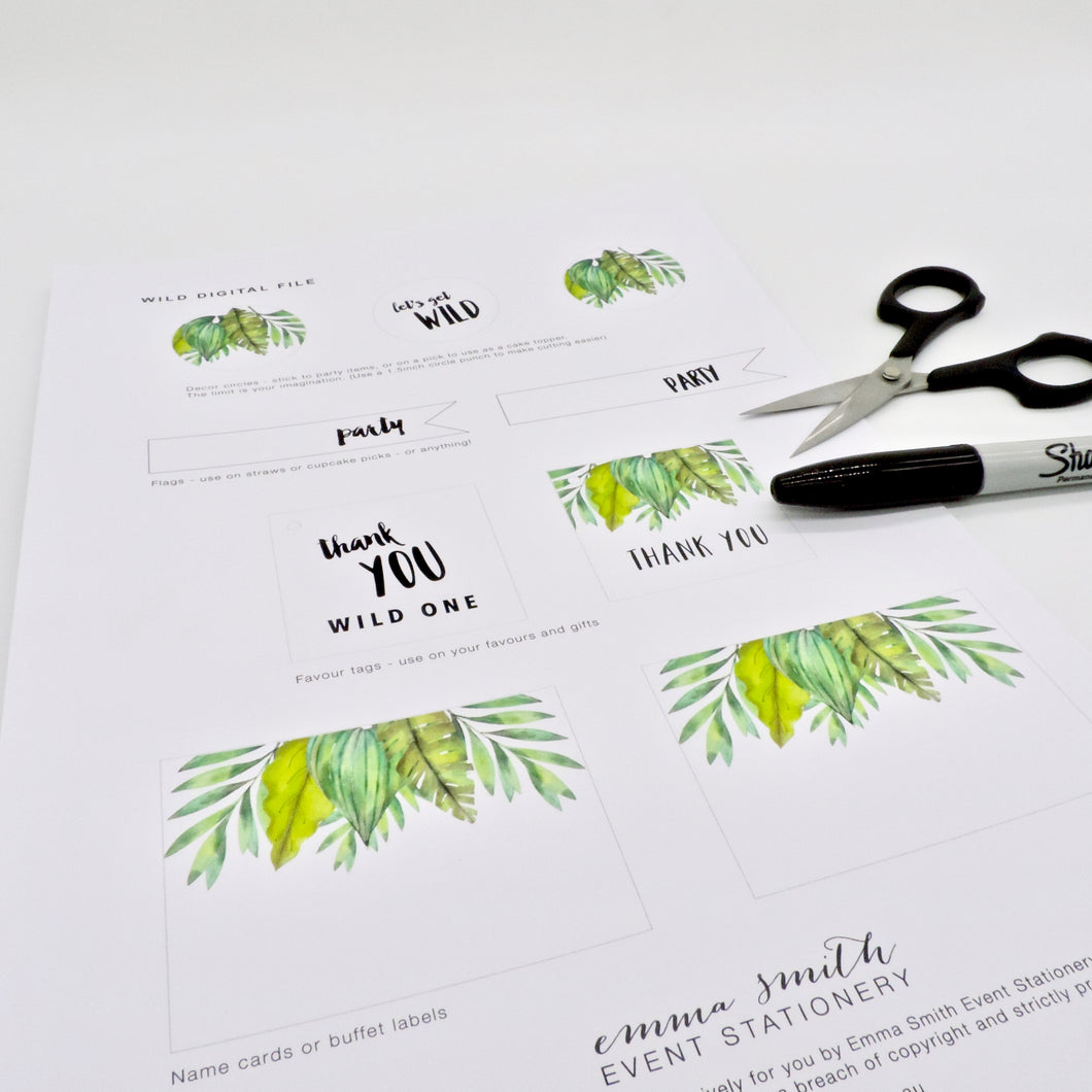 Emma Smith Event Stationery Wild One Digital File2