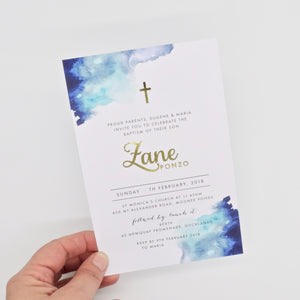 Emma Smith Event Stationery Zane Invitation Blue 2