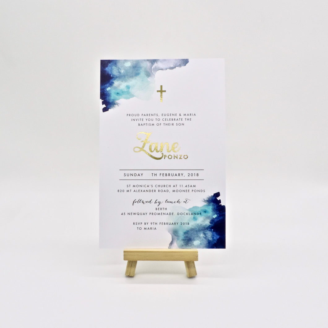 Emma Smith Event Stationery Zane Invitation Blue 1