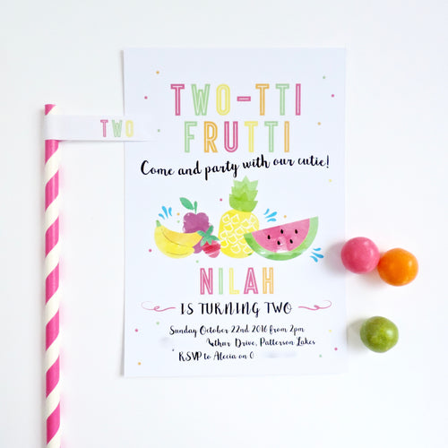 Emma Smith Event Stationery Tutti Fruitti Invitation 1