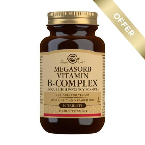 Solgar Megasorb Vitamin B-Complex High Potency 50 Tablets
