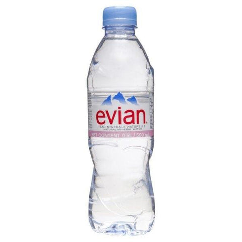 Evian Natural Mineral Water 50cl (Pack of 24)