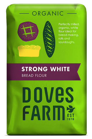 Doves Farm Strong White Bread Flour 1.5kg (pack of 5)