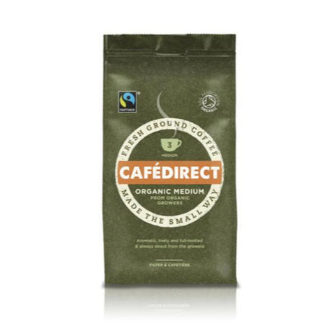 Cafe Direct Roast & Ground Coffee - Organic Medium 227g
