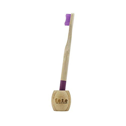 F.E.T.E Bamboo Toothbrush Stand 1piece