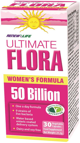 Renew Life  Ultimate Flora Everyday Plus Womens 50 Bill 30 Caps