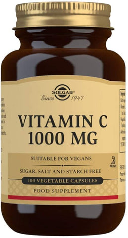 Solgar Vitamin C 1000 mg 100 Vegetable Capsules