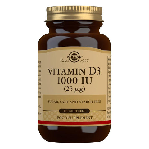 Solgar Vitamin D3 1000 IU (25 µg) 100 Softgels
