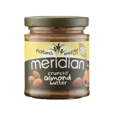 Meridian Foods Almond Butter Crunchy 100% Nuts 170g