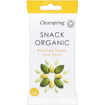 Clearspring Roasted Seeds & Soya - Organic 35g (Pack of 15)