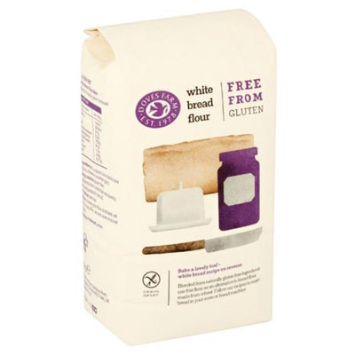 Doves Farm Freee White Bread Flour - Gluten Free 1kg (Pack of 5)