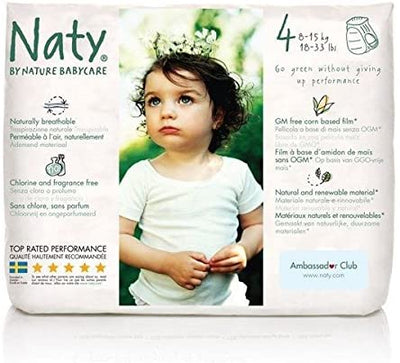 Naty by Nature Babycare Nappy Pants - Maxi Size 4 (18-33lbs) 22s