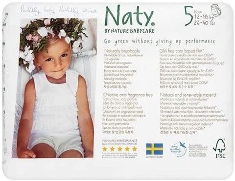 Eco by Naty Nappy Pants Size 5 20pcs