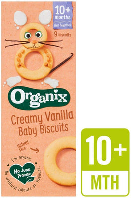 Organix Organic Baby Ring Biscuits Vanilla 54g (Pack of 5)
