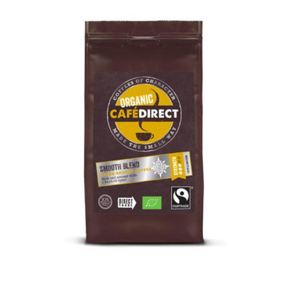 Cafe Direct Organic Smooth Blend Ground Coffee - Fairtrade 227g