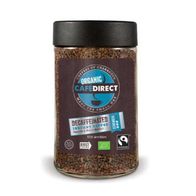 Cafe Direct Organic Decaf Instant Coffee - Fairtrade 100g