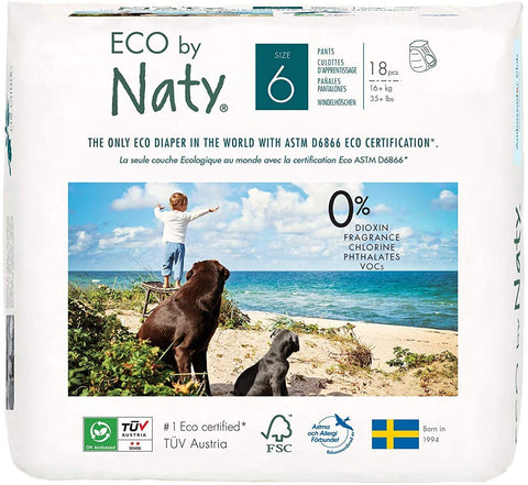 Naty by Nature Babycare Nappy Pants - Extra Large Size 6 18s