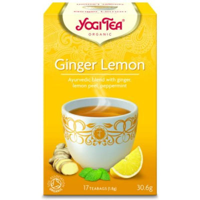 Yogi Tea - Ayurvedic Organic Ancient Herbal Formula Ginger Lemon Tea 17 Bags