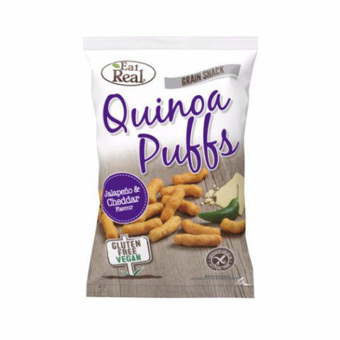 Eat Real Quinoa Puffs Jalapeno Flavour 113g (Pack of 12)