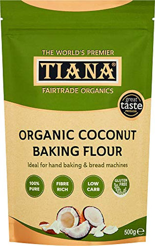 Tiana Organic Fairtrade Coconut Flour 500g