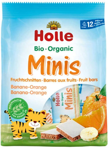 Holle Organic Minis - Fruit Bars Banana Orange 100g