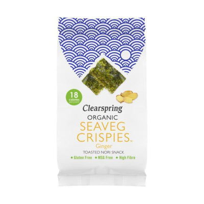 Clearspring Organic Seaveg Crispies Ginger 4g (Pack of 16)