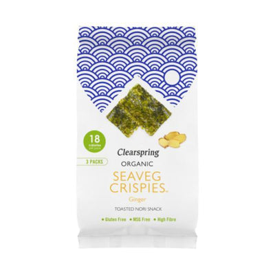 Clearspring Organic Seaveg Crispies Ginger Multipack (3x4g) (Pack of 8)